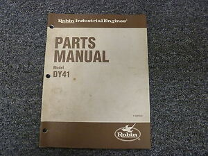 Robin America Model Dy41 Industrial Engine Parts Catalog Manual Book