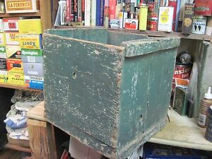 Wooden Egg Box Wood Shipping Crate Carrier Antique Hatchery Primitive