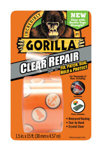 Gorilla 6015002 Crystal Duct Tape 1 5 X 5 Yd pack Of 1 Clear