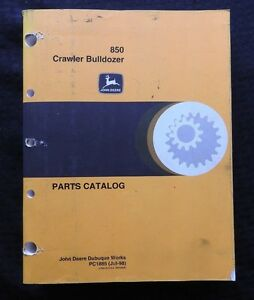 Original 1978 85 John Deere 850 Jd850 Crawler Bulldozer Tractor Parts Manual