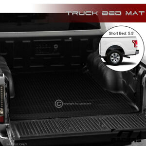 For 2015 2021 Ford F150 5 5 Ft Sb Black Rubber Diamond Truck Bed Floor Mat Liner