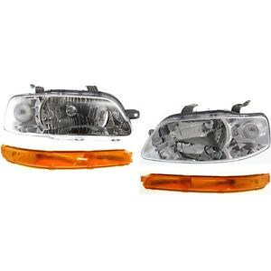 Headlight Kit For 2004 2007 Chevrolet Aveo 2006 2008 Aveo5 Left Right 4pc