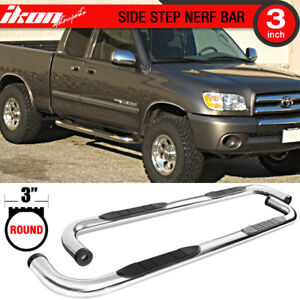 Fits 99 06 Tundra Double Cab 3 Inch Stainless Steel Side Steps Running Boards