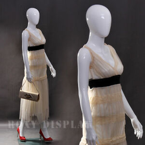 Fiberglass White Abstract Egg Head Mannequin Display Dress Form Mz zara6eg