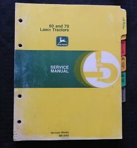 1970 John Deere 60 70 Lawn Tractor Technical Service Repair Manual Mint Inside