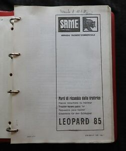 Genuine Lamborghini Same Leopard 85 Tractor Parts Catalog Manual 5 Languages