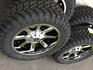 Cali Offroad Busted Pvd 20x9 35 Mt 5x5 5 Wheel Tire Package Dodge Ram 5 Lug