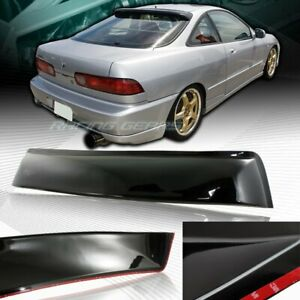 Black Abs Rear Window Roof Visor Spoiler Wing Fit 94 01 Acura Integra 2 dr