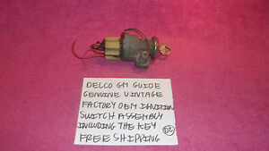 Delco Gm Guide Genuine Vintage Oem Ignition Switch Key Tested Free Shipping