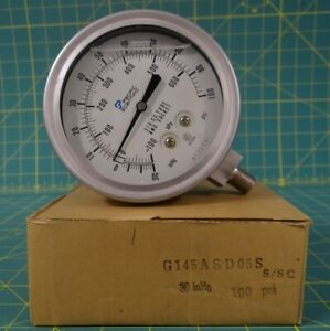 Pacific Scientific 4135731 4 5 Oil Filled Pressure Gauge 30 0 100 Psi