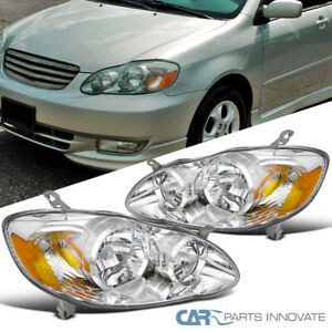 For 03 08 Corolla Replacement Clear Lens Head Lights Corner Signal Lamps amber
