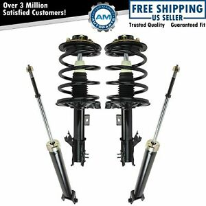 Front Rear Quick Complete Loaded Strut Spring Assembly Shock 4pc For Altima 2 5l