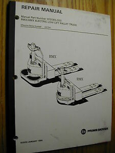 Bt Prime Mover Rmx Hmx Lowlift Electric Truck Service Repair Manual Pallet Jack