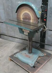 Elephant 20″ Disc Sander Grinder Model DS-20 Baldor Motor 2 HP 3 Phase Nice