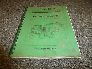 Timberjack 1010 Forwarder Skidder Logging Owner Operator Maintenance Manual