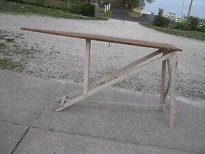 White Legs Vintage Antique Primitive Strange Ironing Table Ironing Board