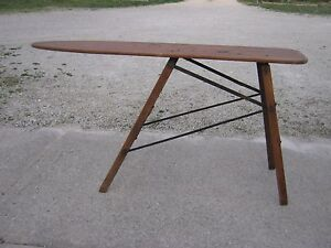Old Antique Vintage Primitive Wood Ironing Table Ironing Board Great For Decor