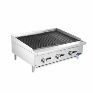 36 3 Foot Wide Propane Lp Gas Commercial Char Rock Food Grill Broiler And Stand