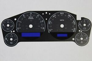 07 14 Custom Carbon Fiber Escalade Speedometer Cluster Gauge Face Inlay Only