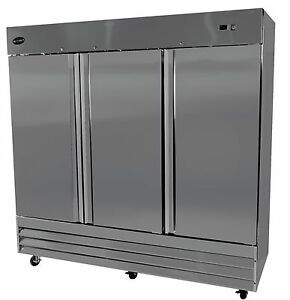 Saba Heavy Duty Commercial Reach In Freezer 3 Three Door Freezer Stainless Stee