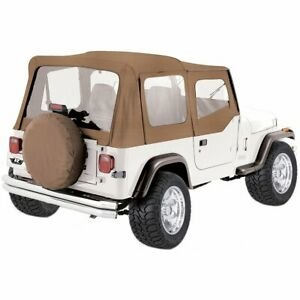 Rampage New Soft Top Tan Jeep Wrangler 1987 1995