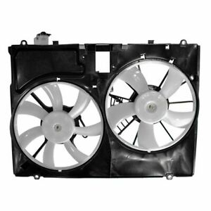 Radiator Dual Cooling Fan Assembly For 07 10 Toyota Sienna
