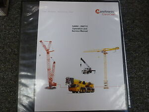Manitowoc Model 1400h Crane Owner Operator Shop Service Repair Manual Book