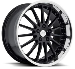 17x8 Coventry Whitley 5x108 Rims 42 Black Wheels Set Of 4