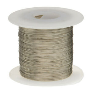 30 Awg Gauge Tinned Copper Wire Buss Wire 1000 Length 0 0100 Silver