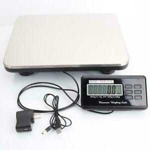 300kg X 100g Digital Floor Bench Platform Postal Scale Kg lb oz 660lb