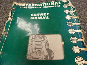 International Ih 175 175b Loader Td15b Crawler Tractor Service Repair Manual