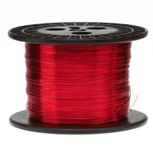 19 Awg Gauge Enameled Copper Magnet Wire 10 Lbs 2530 Length 0 0370 155c Red