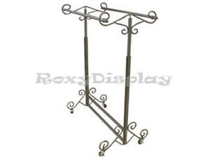 Display Clothes Rack Double Rolling Rack rk 03d1