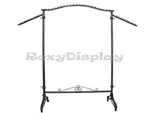 Display Clothes Rack Raw Steel Rolling Garment Rack ty 906