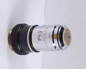 Zeiss Plan 100x 1 25 Ph3 Phase Contrast 160 Tl Microscope Objective