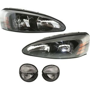 Headlight Kit For 2004 2008 Pontiac Grand Prix Left And Right 4pc