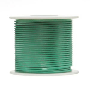 30 Awg Gauge Stranded Hook Up Wire Green 250 Ft 0 0100 Ptfe 600 Volts
