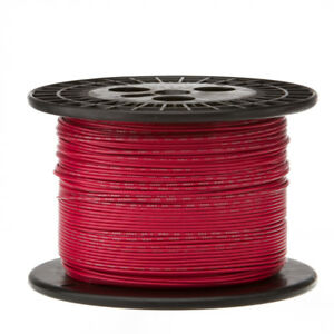 30 Awg Gauge Stranded Hook Up Wire Red 1000 Ft 0 0100 Ptfe 600 Volts