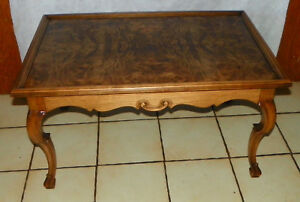 Book Match Burl Pecan Coffee Table By Henredon Rp Ct165