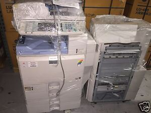 Ricoh Aficio Mpc 4000 Color Copier With Sr3030 Punch vm Card Type I Meters Vary