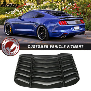Fits 15 18 Ford Mustang Ikon Rear Window Louver Cover Sun Shade Vent Abs