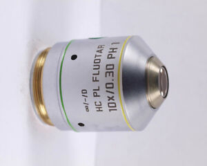 Leica Hc Pl Fluotar 10x Ph1 Phase Contrast Infinity Microscope Objective