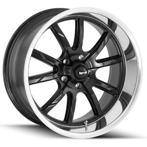 Staggered Ridler 650 Front 20x8 5 rear 20x10 5x127 5x5 0mm Black Wheels Rims