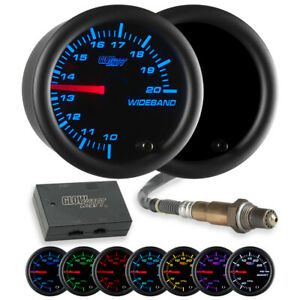 52mm Glowshift Tinted 7 Color Needle Wideband Air Fuel Ratio Gauge Bosch Sensor