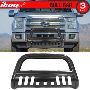 Fits 04 18 Ford F150 Black Bull Bar Brush Push Grill Grille Front Guards