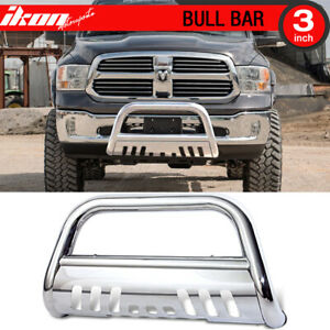 Fits 09 17 Dodge Ram 1500 Stainless Bull Bar Brush Guard With Skid Plate