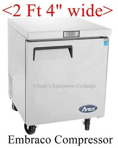 2 Feet 4 Inches Wide 1 Door Under Counter Store Restaurant Commercial Freezer