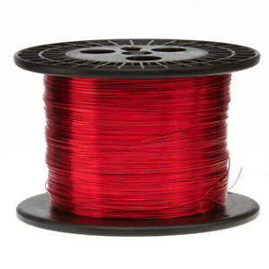 20 Awg Gauge Heavy Copper Magnet Wire 10 0 Lbs 3140 Length 0 0346 155c Red
