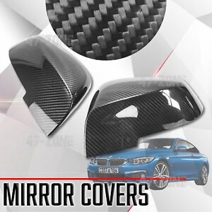 For Bmw F32 F30 F22 F20 Gloss Real Carbon Fiber Stick On Side Mirror Covers