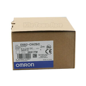 Omron E6b2 cwz6c Rotary Encoder 360p r New One Year Warranty
